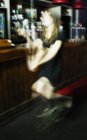 juggling and unicycling at a bar, as you do